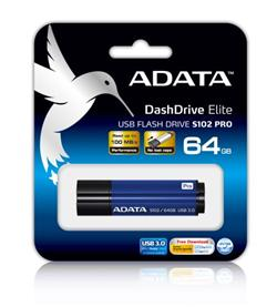 ADATA S102 Pro Flash 64GB, USB 3.0, Blue
