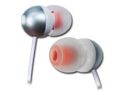 CYGNETT SpaceBuds, Sluchátka - Stříbrná \ Bílo - oranžová - pro iPod, iPad a MP3 přehrávače