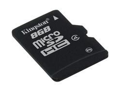 Kingston paměťová karta 8GB micro SDHC CL4 (čtení/zápis: 10/4MB/s)