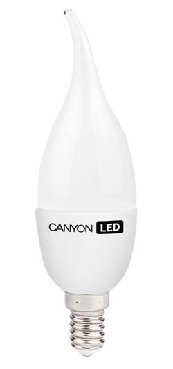 Canyon LED COB žárovka, E14, tvar BXS38, mléčná, 6W, 470 lm, teplá bílá 2700K, 220-240, 150 °, Ra> 80, 50.000 hod