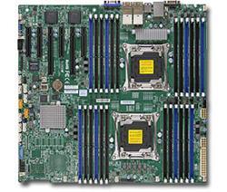 SUPERMICRO MB 2xLGA2011-3, iC612 24x DDR4 ECC R,10xSATA3,(PCI-E 3.0/2,3(x16,x8)PCI-E 2.0/1(x4),4x LAN,IPMI