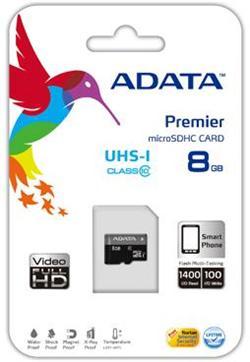 ADATA 8GB Micro SD SDHC class 10/UHS-I Premier