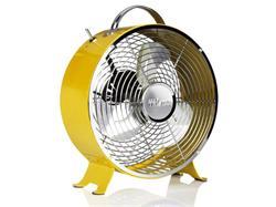 Tristar VE-5964 Kovový ventilátor v retro vzhledu, průměr 25 cm, 1.385 otáček/min., žlutý
