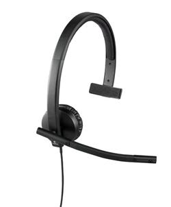 Logitech® UC Corded Mono USB Headset H570e (Leatherette Pad) - Business EMEA