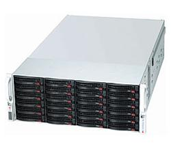 "SUPERMICRO 4U Chassis Single 36x (24 front + 12 rear) 3.5"" Hot-swap HDD, Redundant PSU 1280W, Low Prifile - Black"