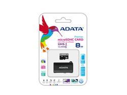 ADATA paměťová karta 8GB Premier micro SDHC UHS-I CL10 (čtení/zápis: 50/10MB/s) + OTG micro čtečka
