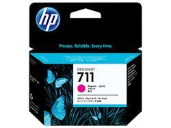 HP náplň č. 711 purpurová, 29 ml - 3 ks v balení