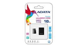 ADATA paměťová karta 16GB Premier micro SDHC UHS-I CL10 (čtení/zápis: 50/10MB/s) + OTG micro čtečka
