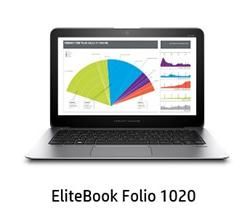 "HP EliteBook Folio 1020 G1 SE, M-5Y51, 12.5"" QHD, 8GB, 180GB SSD, ac, BT, NFC, FpR, LL batt, W8.1Pro-W7Pro"