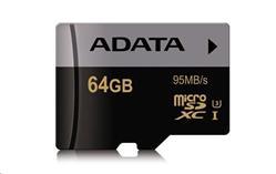 ADATA 64GB Micro SD SDXC UHS-I U3 Class 10 Premier Pro