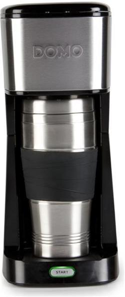 DOMO MyCoffee osobný kávovar s termohrnčekom 400 ml, čierny