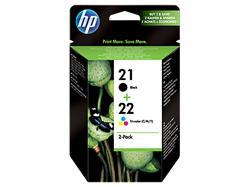 HP 21/22 inkoustové tiskové kazety, sada Combo Pack