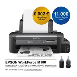 Epson WorkForce M100, A4 mono tlaciaren, USB, LAN