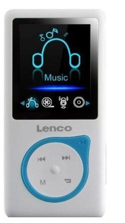 LENCO Xemio 657 - blue - MP3/MP4 přehrávač, 4GB + microSD slot