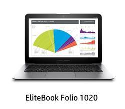 """HP EliteBook Folio 1020 G1, M-5Y51, 12.5"""" QHD Touch, 8GB, 256GB SSD, ac, BT, NFC, FpR, LL batt, W8.1Pro"""