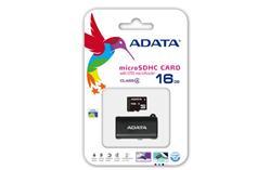 ADATA paměťová karta 16GB micro SDHC CL4 (čtení/zápis: 10/4MB/s) + OTG micro čtečka