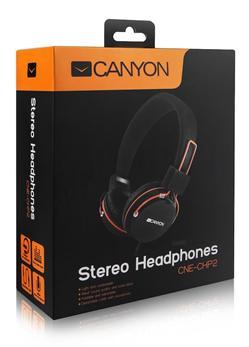 CANYON pouliční sluchátka - streetwear styl, velice kvalitní zvuk, odjímatelný kabel s mikrofonem, polohovatelná, černá