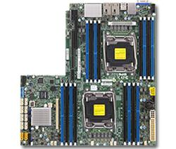 SUPERMICRO MB 2xLGA2011-3, iC612 16x DDR4 ECC,10xSATA3,(PCI-E 3.0/1,1(Lx32,Px16),2x 10GbE LAN,IPMI