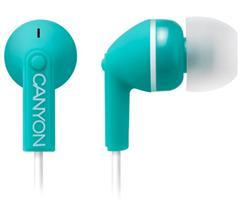 CANYON stylová sluchátka, špunty do uší, zelená