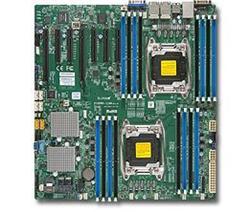 SUPERMICRO MB 2xLGA2011-3, iC612 16x DDR4 ECC R,10xSATA3 (PCI-E 3.0/2,4,1(x16,x8,x4),4x 1GbE LAN,IPMI