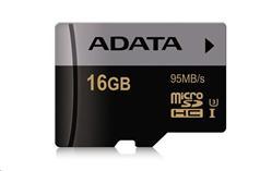 ADATA paměťová karta 16GB Premier Pro micro SDHC UHS-I U3 CL10 (čtení: 95MB/s)
