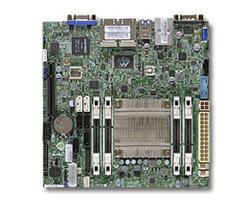 SUPERMICRO miniITX MB Atom C2558 4-core (14W TDP), 4x DDR3 ECC SODIMM, 2xSATA3, 4xSATA2,1xPCI-E x8, 4xLAN, IPMI (bulk)