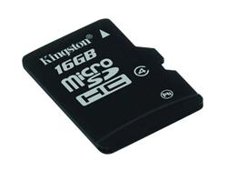 Kingston paměťová karta 16GB micro SDHC CL4 (čtení/zápis: 10/4MB/s)