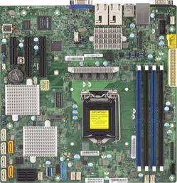 SUPERMICRO MB 1xLGA1151, iC236,DDR4,6xSATA3,PCIe 3.0 (2 x4 (in x8), 1 x4), 1x M.2 NGFF, 2x10Gb LAN,IPMI