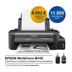 Epson inkoustová tiskárna WorkForce M105, A4 mono tiskárna, USB, WiFi