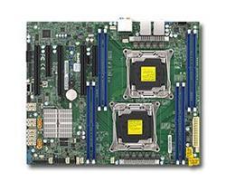 SUPERMICRO MB 2xLGA2011-3, iC612 8x DDR4 ECC,10xSATA3,(PCI-E 3.0/2,1,1(x16,x8,x4)PCI-E 2.0/1(x4),Audio,2x LAN
