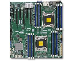 SUPERMICRO MB 2xLGA2011-3, iC612 16x DDR4 ECC R,10xSATA3,(PCI-E 3.0/3,3(x16,x8),2x 10GbE LAN,IPMI