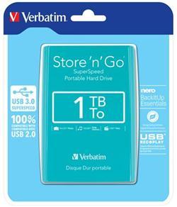 "Verbatim 2,5"" Externý HDD 1TB. USB 3.0 Green. Blister"