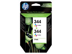 HP Ink Cart Colour No. 344, 2-pack, C9363A