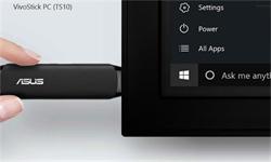 ASUS Vivostick TS10- Atom Z8350/Intel HD/RAM 2GB/Flash 32GB/WiFi/B/HDMI/fTPM/2xUSB/AudioJack/držák/Win10H
