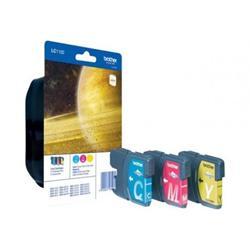 Rainbow pack Brother LC1100RBWBP - sada barevných inkoustů CMY 3x325str.