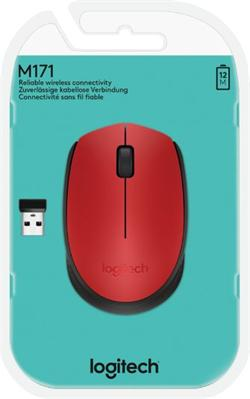 Logitech® M171 Wireless Mouse RED