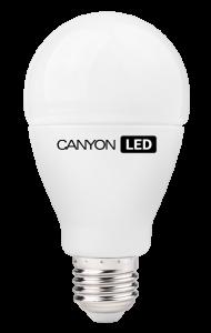 Canyon LED COB žárovka, E27, kulatá, 12W, ekv. 75W, 1.055 lm, teplá bílá 2700K, 220-240, 300 °, Ra> 80, 50.000 hod