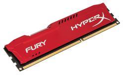 Kingston HyperX FURY DDR3 4GB DIMM 1600MHz CL10 červená