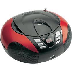 LENCO SCD-37 USB Red - přenosný CD/MP3 přehrávač