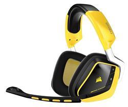 Corsair bezdrátová herní sluchátka s mikrofonem VOID SE 7.1, RGB lighting, černá-žlutá