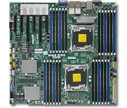 SUPERMICRO MB 2xLGA2011-3, iC612 24x DDR4 ECC R,10xSATA3/8x SAS3 hw LSI 3108(PCI-E 3.0/2,3(x16,x8)PCI-E 2.0/1(x4),4x 10GbE LAN,IPM