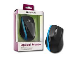 CANYON myš optická, 3tl., 800dpi, USB, černo-modrá