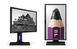 "BenQ BL2420PT 23.8"" IPS LED 2560x1440 20M:1 5ms 300cd HDMI DP DVI Pivot repro cierny"