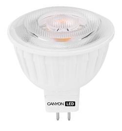 Canyon LED COB žárovka, GU5.3, bodová MR16, 4.8W, 300 lm, teplá bílá 2700K, 12V, 38 °, Ra> 80, 50.000 hod