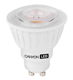 Canyon LED COB žárovka, GU10, bodová MR16, 4.8W, 300 lm, teplá bílá 2700K, 220-240, 60 °, Ra> 80, 50.000 hod