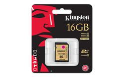 Kingston SDHC karta 16GB Class 10 UHS-I Ultimate flash (čtení/zápis: 90/45MB/s)