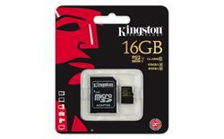 Kingston Micro SDHC karta 32GB Class 10 UHS-I (čtení/zápis: 90/45MB/s) s adaptérem