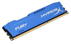 Kingston DDR3 4GB HyperX FURY DIMM 1600MHz CL10 modrá