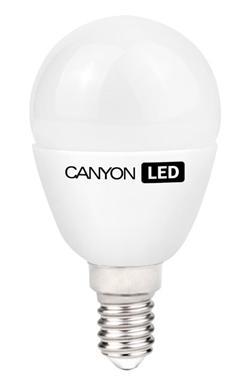Canyon LED COB žárovka, E14, kompakt kulatá, mléčná 3.3W, 250 lm, teplá bílá 2700K, 220-240, 150 °, Ra> 80, 50.000 hod