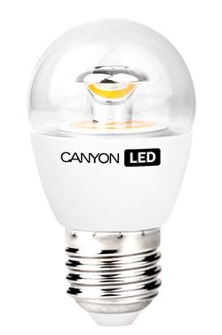 Canyon LED COB žárovka, E27, kompakt kulatá průhledná, 3.3W, 250 lm,neutrální bílá 4000K,220-240,150 °, Ra>80, 50.000 h